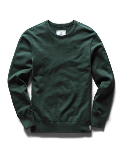 Long Sleeve Crewneck Midweight Terry Forest Green