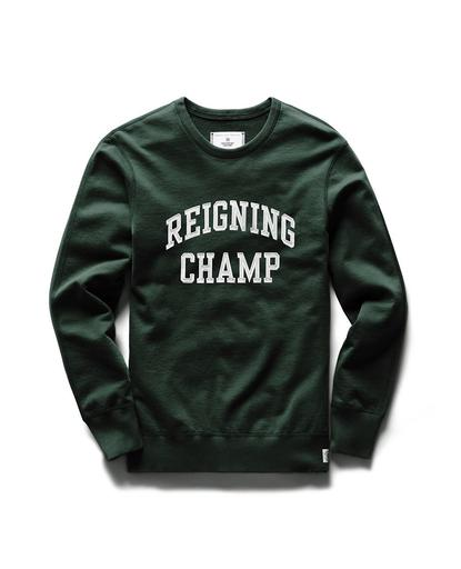 Varsity Crewneck Midweight Terry Forest Green