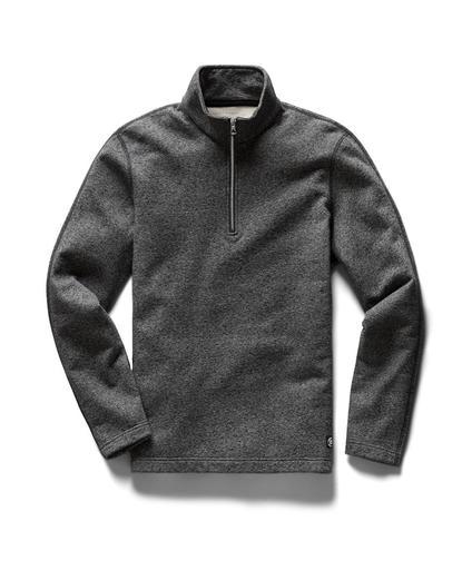 Half Zip Pullover Midweight Terry M. Black