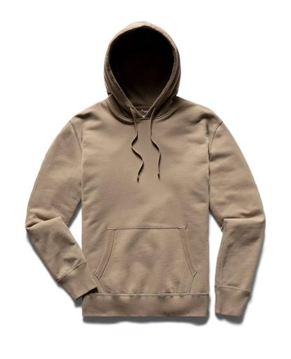 Pullover Hoodie Midweight Terry Khaki
