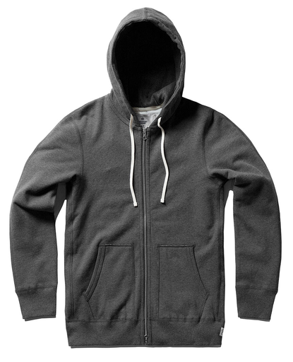 Midweight Twill Zip Up Hoody | H Charcoal