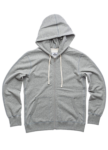 Midweight Twill Zip Up Hoody