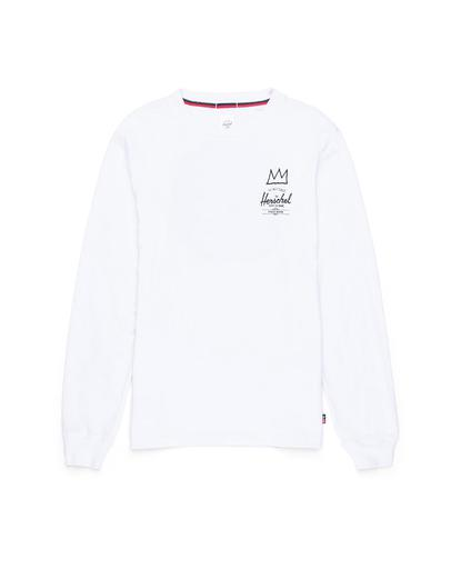 Basquiat Record Long Sleeve Tee White