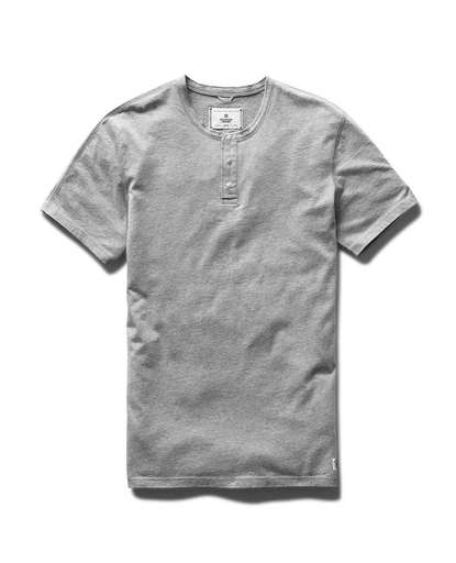 Henley | Ringspun Jersey -  Heather Grey