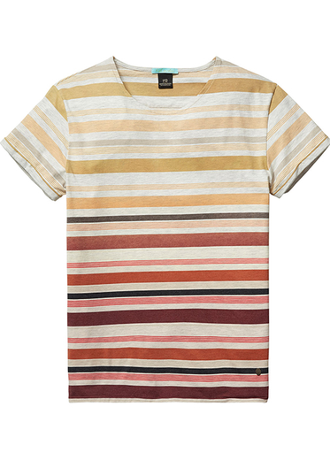 Striped T-Shirt - Natural/Red