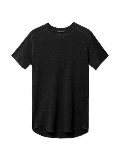1x1 Slub Short Sleeve Crewneck | Black