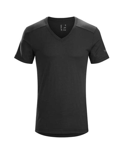 A2B V-Neck Shirt SS Black