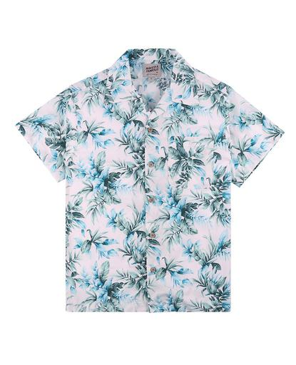 Aloha Shirt  Big Tropical  White