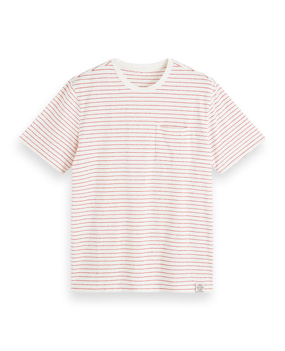 Cotton-Linen T-Shirt Candy Stripe