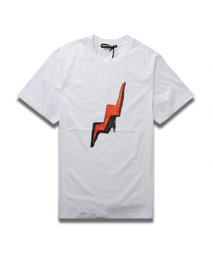 Lightning Bolt Tee | White
