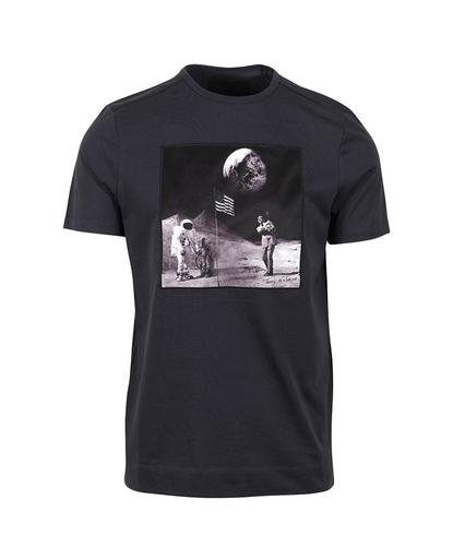 Man On The Moon T-Shirt Graphite Blue