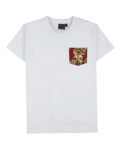 Pocket Tee - White - Japanese Tigers Red