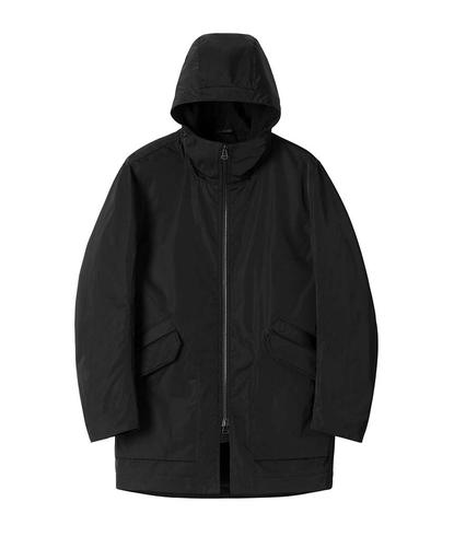 Solo Twill Shearling Jacket Black